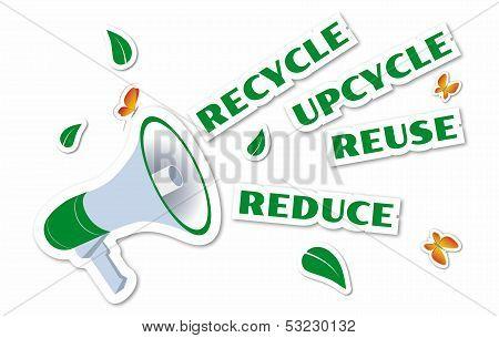 Environmental Awareness Green Stickers