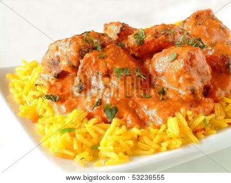 Chicken Tikka Massala With Pilau Rice