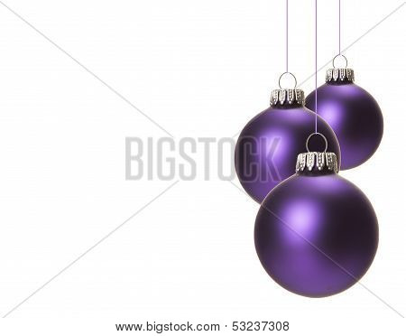 christmas, christmas baubles purple