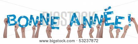 Many Hands Holding Bonne Annee