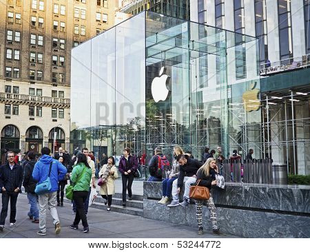 Outside The Apple Store