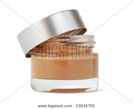 Open Cosmetic Cream Bottle