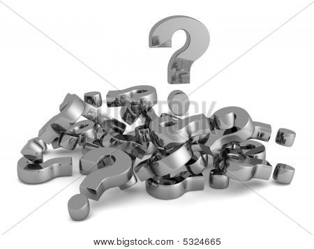 A Pile Of Questions Marks