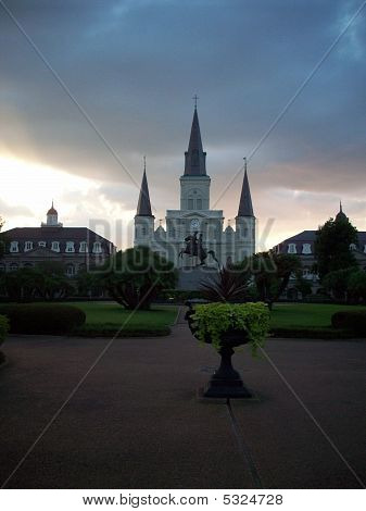 Jackson Square New Orleans At Dusk