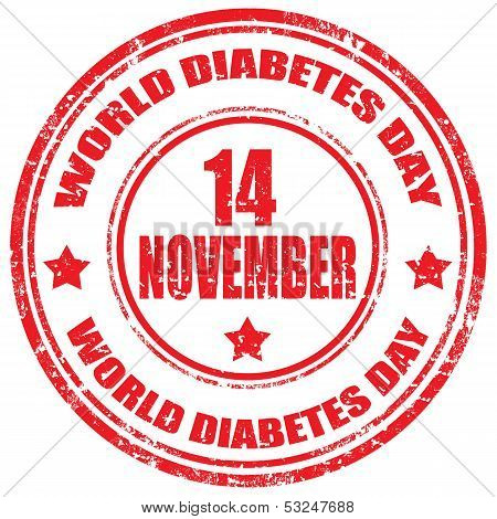 World Diabetes Day-stamp