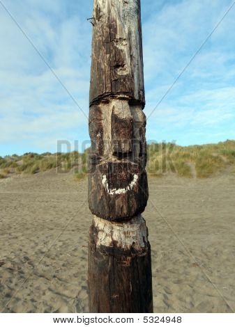 Beach Tiki Statue