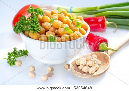 Cooked Garbanzo Beans.