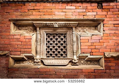 Hindu temple architecture detail. Nepal