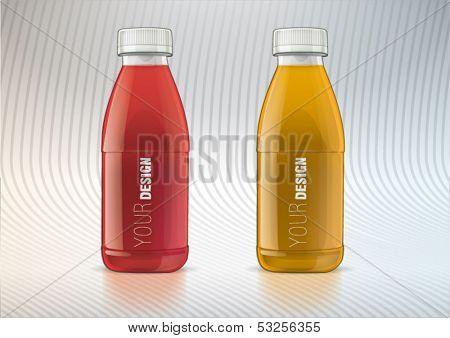Set of plastic bottle for new design