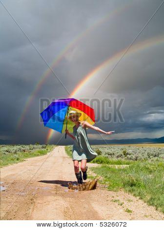 Girl And A Rainbow