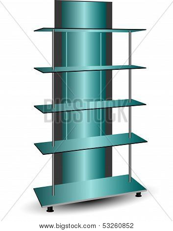 Mirror Commercial Shelving