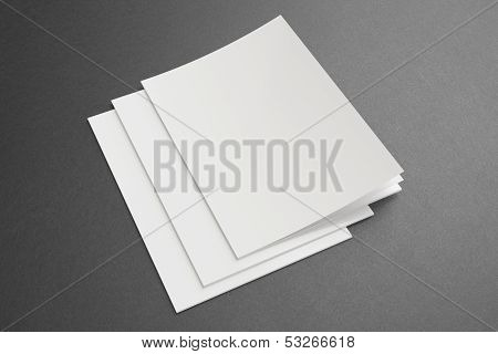 Blank Magazines On Dark Background