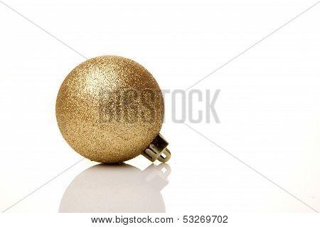 christmas, christmas ball gold