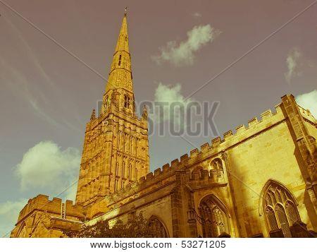 Retro Looking Holy Trinity Church, Coventry