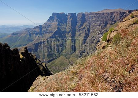 High peaks of the Drakensberg mountains, Royal Natal National Park, South Africa