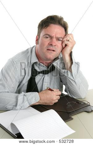 Office Worker-trouble Concentrating