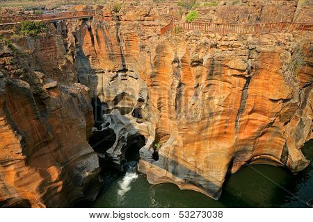 Bourke's Luck Potholes in the Blyde river, Mpumalanga, South Africa