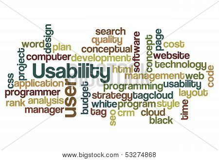 Usability User Project Application Concept Background