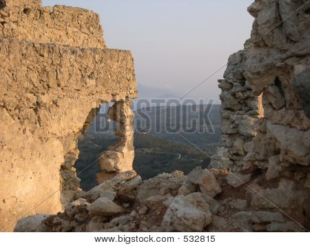 Castle Ruins In Kos