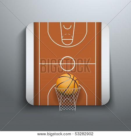 Vector Illustration Basketball icons