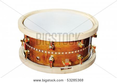 The image of a drum isolated under the white background