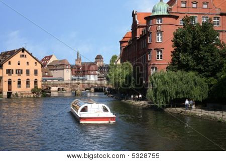 Trip By Boat, Strasbourg, Alsace, France