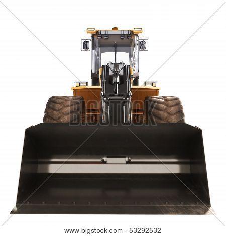 Bulldozer excavator front view