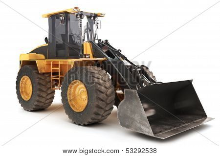 Bulldozer side view