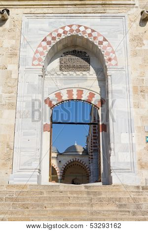 Entrance Of Uc Serefeli Mosque