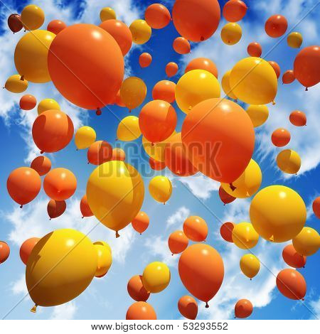 Balloon's released into the sky