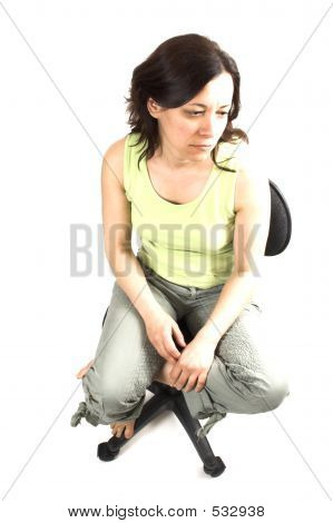 Bad Posture Of Girl Sitting