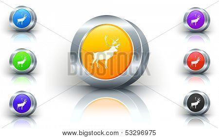 Deer Color Button Set