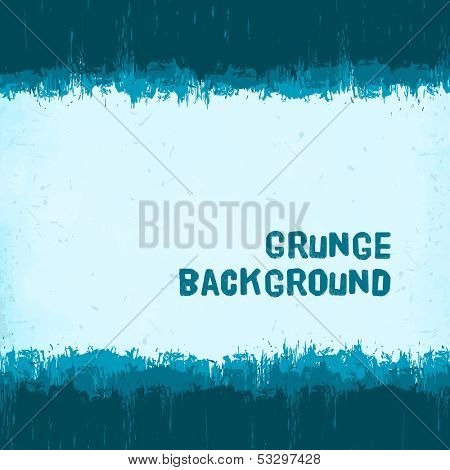 vintage blue winter grunge background