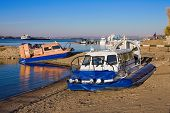 Samara, Russia - October 20: Hovercraft On The Bank Of Volga River In Summertime On October 20, 2010
