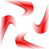 stock photo of quirk  - Abstract winding red twisted ribbon flag illustration - JPG