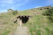 pic of ww2  - A view of the entrance to a WW2 munitions tunnel on Inchcolm island - JPG