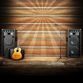 image of guitarists  - Country music stage or singing background - JPG