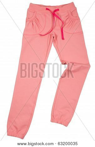 Female sweatpants isolated on a white