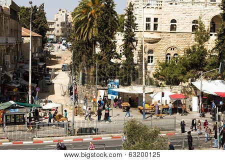 View On The Landmarks Of Jerusalem Old City .