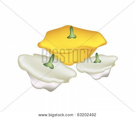 Pile Of Pattypan Squash On White Background