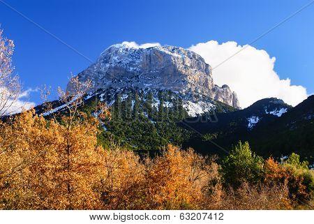 Mountains In Ordesa National Park, Pyrenees, Huesca, Aragon, Spain