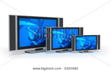 Flat Screet Tvs In 3 Sizes