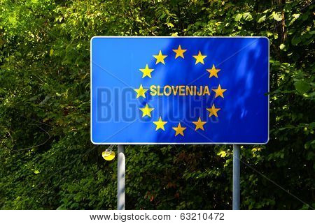 Eu Signs Series - Slovenia, Photo Realistic, Isolated On White