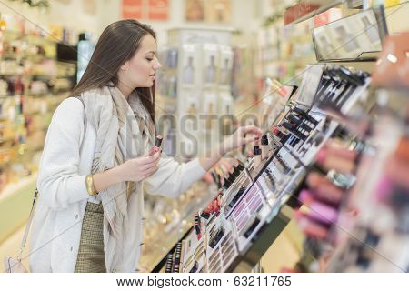 Young Woman In The Perfumery