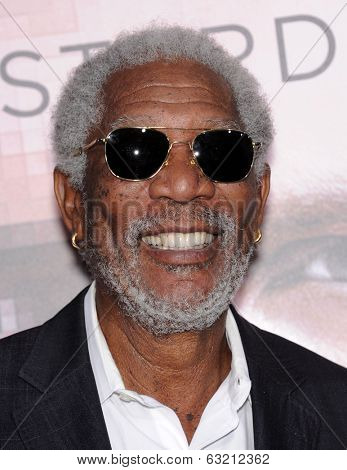 LOS ANGELES - APR 10:  Morgan Freeman arrives to the 'Transcendence' Los Angeles Premiere  on April 10, 2014 in Westwood, CA