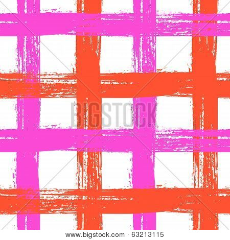 Plaid pattern with crossing wide stripes in bright colors