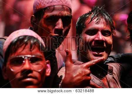 Indian Hindus celebrating Holi festival