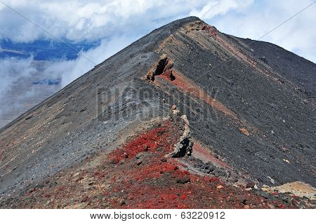 Mount Ngauruhoe summit, Tongariro National Park, New Zealand