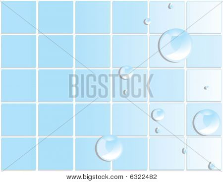 Blue Tile Water Droplet Background 3