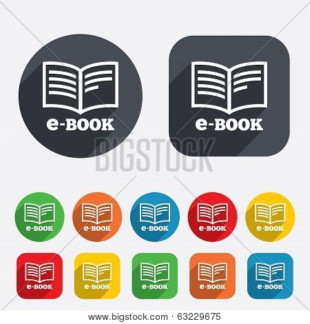 E-Book sign icon